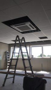 airco verwerkt in systeemplafond