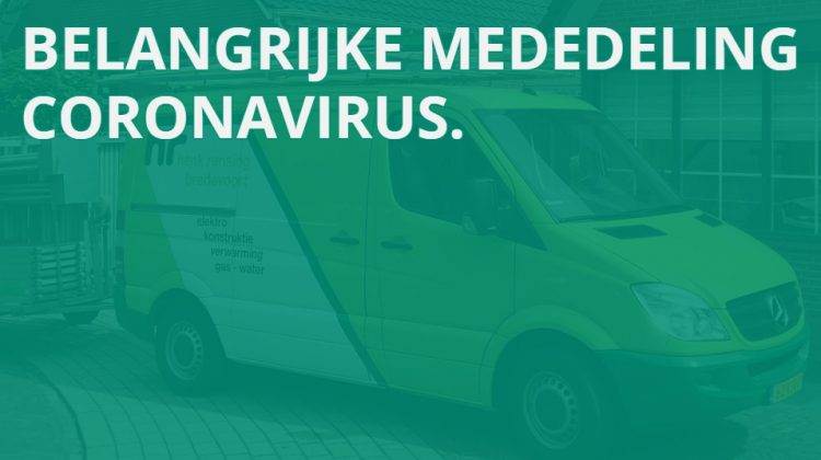 Coronavirus en installatiebranche
